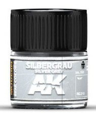 AK Interactive  AK Real Colors Real Colors: Silver Grey RAL7001 Acrylic Lacquer Paint 10ml Bottle AKIRC210