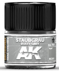 AK Interactive  AK Real Colors Real Colors: Dusty Grey RAL7037 Acrylic Lacquer Paint 10ml Bottle AKIRC215