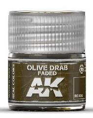 AK Interactive  RealColors Real Colors: Olive Drab Faded Acrylic Lacquer Paint 10ml Bottle AKIRC24