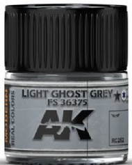 AK Interactive  AK Real Colors Real Colors: Light Ghost Grey FS36375 Acrylic Lacquer Paint 10ml Bottle AKIRC252