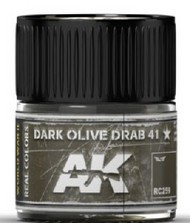Real Colors: Dark Olive Drab 41 Acrylic Lacquer Paint 10ml Bottle #AKIRC259