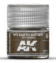 AK Interactive  RealColors Real Colors: Nº5 Earth Brown FS30099 Acrylic Lacquer Paint 10ml Bottle AKIRC29
