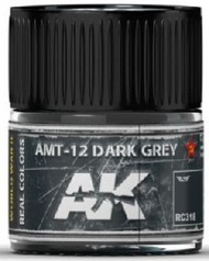 Real Colors: AMT12 Dark Grey Acrylic Lacquer Paint 10ml Bottle #AKIRC318