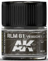 Real Colors: RLM81 Version 1 Acrylic Lacquer Paint 10ml Bottle #AKIRC323