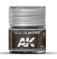 AK Interactive  RealColors Real Colors: SCC 1A Brown Acrylic Lacquer Paint 10ml Bottle AKIRC34