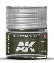 AK Interactive  RealColors Real Colors: BSC Nº34 Slate Acrylic Lacquer Paint 10ml Bottle AKIRC39