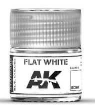 AK Interactive  RealColors Real Colors: Flat White Acrylic Lacquer Paint 10ml Bottle AKIRC4