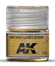 AK Interactive  RealColors Real Colors: BSC Nº61 Light Stone Acrylic Lacquer Paint 10ml Bottle AKIRC40