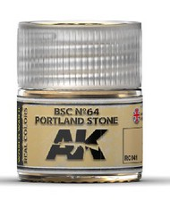 AK Interactive  RealColors Real Colors: BSC Nº64 Portland Stone Acrylic Lacquer Paint 10ml Bottle AKIRC41