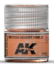 AK Interactive  RealColors Real Colors: British Desert Pink Z1 Acrylic Lacquer Paint 10ml Bottle AKIRC43