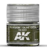 AK Interactive  RealColors Real Colors: Olive Green RAL6003 Acrylic Lacquer Paint 10ml Bottle AKIRC47