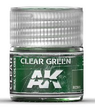AK Interactive  RealColors Real Colors: Clear Green Acrylic Lacquer Paint 10ml Bottle AKIRC505