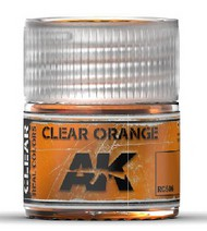 AK Interactive  RealColors Real Colors: Clear Orange Acrylic Lacquer Paint 10ml Bottle AKIRC506