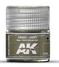 Real Colors: Grey RAL7003 RLM02 Acrylic Lacquer Paint 10ml Bottle #AKIRC52