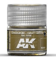 AK Interactive  RealColors Real Colors: Grey Green RAL7008 Acrylic Lacquer Paint 10ml Bottle AKIRC53