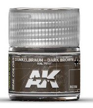 AK Interactive  RealColors Real Colors: Dark Brown RAL7017 Acrylic Lacquer Paint 10ml Bottle AKIRC56