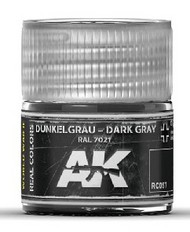 AK Interactive  RealColors Real Colors: Dark Grey RAL7021 Acrylic Lacquer Paint 10ml Bottle AKIRC57