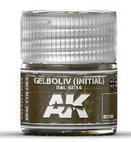 Real Colors: Gelboliv Initial RAL6014 (NATO Oliv) Acrylic Lacquer Paint 10ml Bottle #AKIRC86