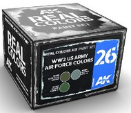 Real Colors: WWII USAAF Acrylic Lacquer Paint Set (3) 10ml Bottles #AKIRCS26