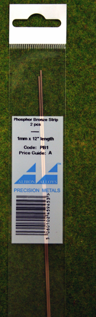 Albion Alloys   N/A 1.0mm  x 0.135mm x 12in (2) Phosphor Bronze Strip ABAPB1M