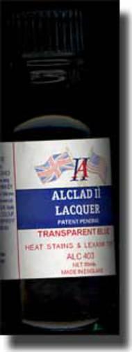 Alclad Metalizers  No Scale Transparent Lacquers - Blue ALC403