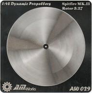 Alliance Model Works  1/48 Spitfire Mk III Rotor 3.27m Photo-Etch Propeller (2) (D)<!-- _Disc_ --> ALW29