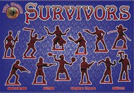 Alliance Figures  1/72 Survivors (Anti-Zombies) (48) ANK72038