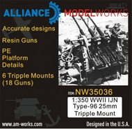Alliance Modelworks  1/350 WWII IJN Type-96 25mm Triple Mount (6 Triple Mounts) NW35036