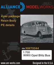 Alliance Modelworks  1/700 WWII Opel Blitz bus x 4 . NW70044