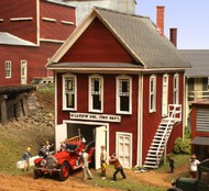 AMERICAN MODEL BUILDERS  HO Hillview Volunteer Department Firehouse AME147