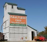 AMERICAN MODEL BUILDERS  HO Faultless Feed Country Grain Elevator AME193