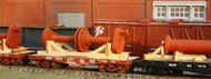 AMERICAN MODEL BUILDERS  N Crankshaft & Cradle Flatcar Load AME522