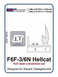 Full radar conversion set for Grumman F6F-3/6N Hellcat #AMLA72070