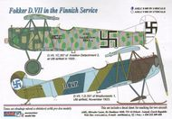 AML Czech Republic  1/48 Fokker D.VII in Finnish Service with masks AMLC8009