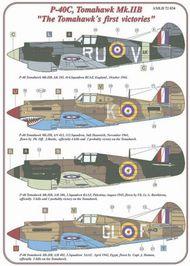 AML Czech Republic  1/72 P-40C, Tomahawk Mk.IIb: RAF (1) USAF (5) AMLD7234
