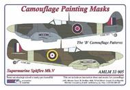 AML Czech Republic  1/32 Spitfire Mk.V camo masks B scheme AMLM3305