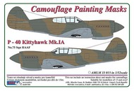 AML Czech Republic  1/32 Curtiss P-40B Kittyhawk Mk.IA Camouflage mask AMLM3315
