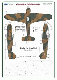 AML Czech Republic  1/32 Hawker Hurricane Mk.I 'B' Camouflage Patterns AMLM3317