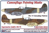 AML Czech Republic  1/48 Supermarine Spitfire Mk.V 'A' scheme patterns camouflage pattern paint mask AMLM49008