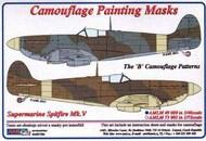 AML Czech Republic  1/48 Supermarine Spitfire Mk.V 'B' scheme camouflage pattern paint mask AMLM49009
