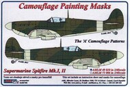 AML Czech Republic  1/48 Supermarine Spitfire Mk.I, Mk.II The 'A' camouflage pattern paint mask AMLM49010