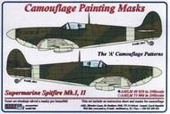AML Czech Republic  1/48 Supermarine Spitfire Mk.I, Mk.II The 'A' camouflage pattern paint mask AMLM49010