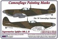 AML Czech Republic  1/48 Supermarine Spitfire Mk.I, Mk.II The 'B' camouflage pattern paint mask AMLM49011