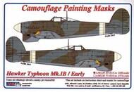 AML Czech Republic  1/48 Hawker Typhoon Mk.Ib / Early version camouflage pattern paint mask AMLM49014