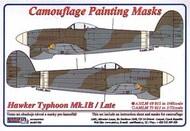 AML Czech Republic  1/48 Hawker Typhoon Mk.Ib Late version camouflage pattern paint mask AMLM49015