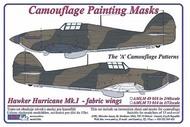 AML Czech Republic  1/48 Hawker Hurricane Mk.I / fabric wings  'A' scheme camouflage pattern paint mask AMLM49018