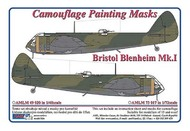 AML Czech Republic  1/48 Bristol Blenheim Mk.I camouflage pattern paint mask AMLM49020