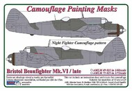 AML Czech Republic  1/48 Bristol Beaufighter Mk.VI / late û Night Fighter camouflage pattern paint mask AMLM49022
