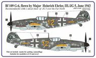 AML Czech Republic  1/48 Bf.109G-6 Ehrler camo Masks AMLM4907