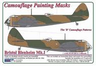 AML Czech Republic  1/48 Bristol Blenheim Mk.I 'B' Camo mask AMLM4928